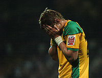 Photo: Tony Oudot.<br /> Queens Park Rangers v Norwich City. Coca Cola Championship. 08/10/2007.<br /> David Strihavka of Norwich City looks dejected as his team lose