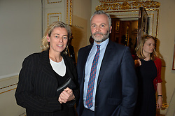 LONDON, ENGLAND 28 NOVEMBER 2016: Dr Susan Jenkins and David Taylor at a reception to celebrate the publication of The Sovereign Artist by Christopher Le Brun and Wolf Burchard held at the Royal Academy of Art, Piccadilly, London, England. 28 November 2016.