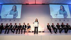 Dra. Waleska Santos na abertura oficial da HOSPITALAR 2014 - 21ª Feira Internacional de Produtos, Equipamentos, Serviços e Tecnologia para Hospitais, Laboratórios, Farmácias, Clínicas e Consultórios, que acontece de 20 a 23 de maio de 2014, no Expo Center Norte, em São Paulo. FOTO: Jefferson Bernardes/Preview.com