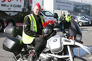 NO FEE PICTURES.5/5/13 On Saturday May 4th, the 8th Annual Rev-up4DSI motorcycle challenge in aid of Down Syndrome Ireland departed Joe Duffy BMW in Dublin, bound for Donegal. Pictured is Brian Kerr, Ardee. Picture:Arthur Carron Photography