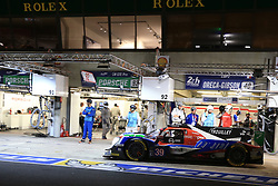 June 18, 2017 - Le Mans, Sarthe, France - GRAFF DUNLOP ORECA 07 - GIBSON rider ENZO GUIBBERT (FRA) in the pit lane for refueling during the race of the 24 hours of Le Mans on the Le Mans Circuit - France (Credit Image: © Pierre Stevenin via ZUMA Wire)