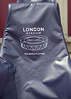 Athletics - 2017 IAAF London World Athletics Championships - Day One<br /> <br /> The London Stadium chair covers hide the West Ham branded seats at the London Stadium<br /> <br /> <br /> COLORSPORT/DANIEL BEARHAM
