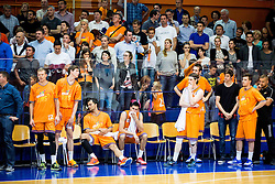 Players of Helios look dejected during 2nd Leg basketball match between KK Helios Suns and KK Zlatorog Lasko in Final of Nova KBM Champions League  2015/16, on May 31, 2016 in Hala Komunalnega centra, Domzale, Slovenia Photo by Vid Ponikvar / Sportida