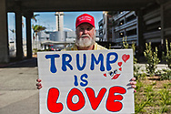 About 30-40 loud pro-Trump supporters showed up to LAX International Terminal to protest against the travel ban getting over-ruled by a federal judge. A counter anti-Trump protest with 300 demonstrators protested across the street from them.