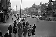 08/04/1963<br /> 04/08/1963<br /> 08 April 1963<br /> Bus strike in Dublin. O'Connell Street without any buses.
