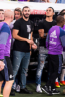 Real Madrid's player Karem Benzema and Kaylor Navas during the XXXVII Santiago Bernabeu Trophy in Madrid. August 16, Spain. 2016. (ALTERPHOTOS/BorjaB.Hojas)