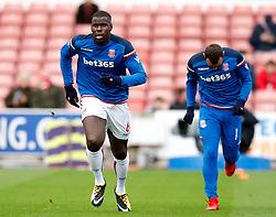 Stoke City's Kurt Zouma during warm-up