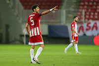 PIRAEUS, GREECE - OCTOBER 21: Andreas Bouchalakis of Olympiacos FC during the UEFA Champions League Group C stage match between Olympiacos FC and Olympique de Marseille at Karaiskakis Stadium on October 21, 2020 in Piraeus, Greece. (Photo by MB Media)