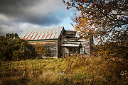 Old abandoned house in countryside.