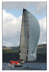 The third days racing at the Bell Lawrie Yachting Series in Tarbert Loch Fyne. Perfect conditions finally arrived for competitors on the three race courses..GBR744R Hotel California in Class one...
