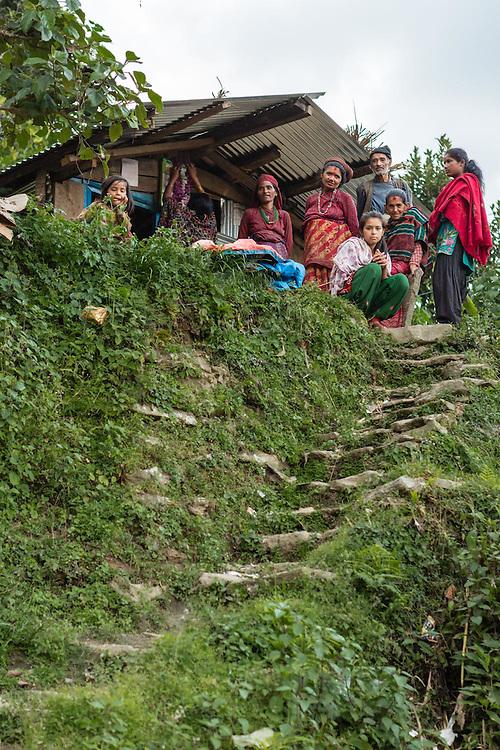Community members in Babare village, Dolakha, Nepal.