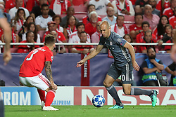 September 19, 2018 - Lisbon, Portugal - Bayern Munich's midfielder Arjen Robben from Nederlands (L) vies with Benfica's Spanish defender Alejandro Grimaldo during the UEFA Champions League Group E football match SL Benfica vs Bayern Munich at the Luz stadium in Lisbon, Portugal on September 19, 2018. (Credit Image: © Pedro Fiuza/ZUMA Wire)