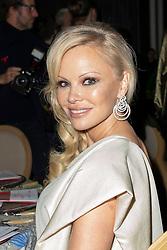 Pamela Anderson attends the 17th 'Diner De La Mode' as part of Paris Fashion Week on January 24, 2019 in Paris, France.