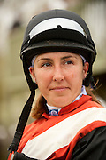 9  April, 2011:  Jockey Danielle Hodson waits in the paddock for the second race.