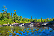Acorn Falls. Whiteshell River west of Pine Point Rapids<br />Whiteshell Provincial Park<br />Manitoba<br />Canada