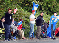 Part of the crowd urge the riders on at Baggaby Hill during Stage 1 of the Tour de Yorkshire from Doncaster to Selby, Doncaster, United Kingdom on 2 May 2019.