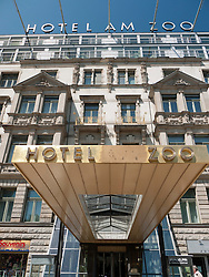 Exterior of historic art deco Hotel am Zoo in Berlin Germany