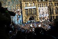 Football - Premier League - Manchester City Premier League Trophy Parade<br /> The press focus their cameras on the Manchester City squad