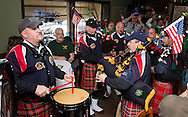Salisbury Mills, New York - The Newburgh Firefighters Pipes and Drums perform at Loughran's Irish Pub on March 17, 2015.