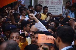 April 27, 2017 - Kolkata, West Bengal, India - National President of Bharatiya Janata Party (BJP), Amit Shah during the visit  of suburban  area of  Rajarhat Newtown Constituency in  Kolkata , India on Thursday 27th April 2017 . The BJP chief's three-day tour of Bengal will focus  on strengthening the BJP at the grass roots ahead of crucial panchayat or local body elections in the state next year and then the 2019 national election, when Prime Minister Narendra Modi will seek a second term as a part of Booth Chalo Avijan during his three day visit to West Bengal as part of ''Vistaar Yatra'' expansion tour. (Credit Image: © Sonali Pal Chaudhury/NurPhoto via ZUMA Press)