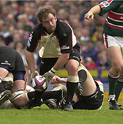 Leicester, Leicestershire, 3rd May 2003, Welford Road Stadium, [Mandatory Credit: Peter Spurrier/Intersport Images],Zurich Premiership Rugby - Leicester Tigers v London Irish<br /> Exiles hooker Adrain Flavin