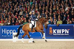 Krooswijk Angela (NED) - Ben Johnson DVB<br /> KWPN Hengstenkeuring - 's Hertogenbosch 2013<br /> © Dirk Caremans