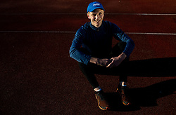 Portrait of Nik Kocevar, 19 years old athlete, his mayor categories are 100 m and 200 m. He has Slovenian and German Citizenship and deciding for what country will compete, on April 16, 2019, in ZAK, Ljubljana, Slovenia. Photo by Vid Ponikvar / Sportida