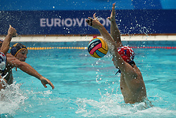 July 24, 2018 - Barcelona, Spain - Marko Bijac (Croacia) during the match between Croacia and Montenegro, corresponding to the women group stage of the European Water Polo Championship, on 19th July, 2018, in Barcelona, Spain. (Credit Image: © Joan Valls/NurPhoto via ZUMA Press)
