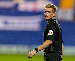 BIRKENHEAD, ENGLAND - Tuesday, September 29, 2020: Referee Scott Oldham during the EFL Trophy Northern Group D match between Tranmere Rovers FC and Liverpool FC Under-21's at Prenton Park. Tranmere Rovers won 3-2. (Pic by David Rawcliffe/Propaganda)