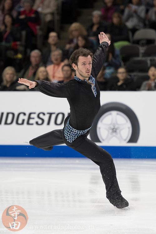January 4, 2018; San Jose, CA, USA; Daniel Kulenkamp in the mens short program during the 2018 U.S. Figure Skating Championships at SAP Center.