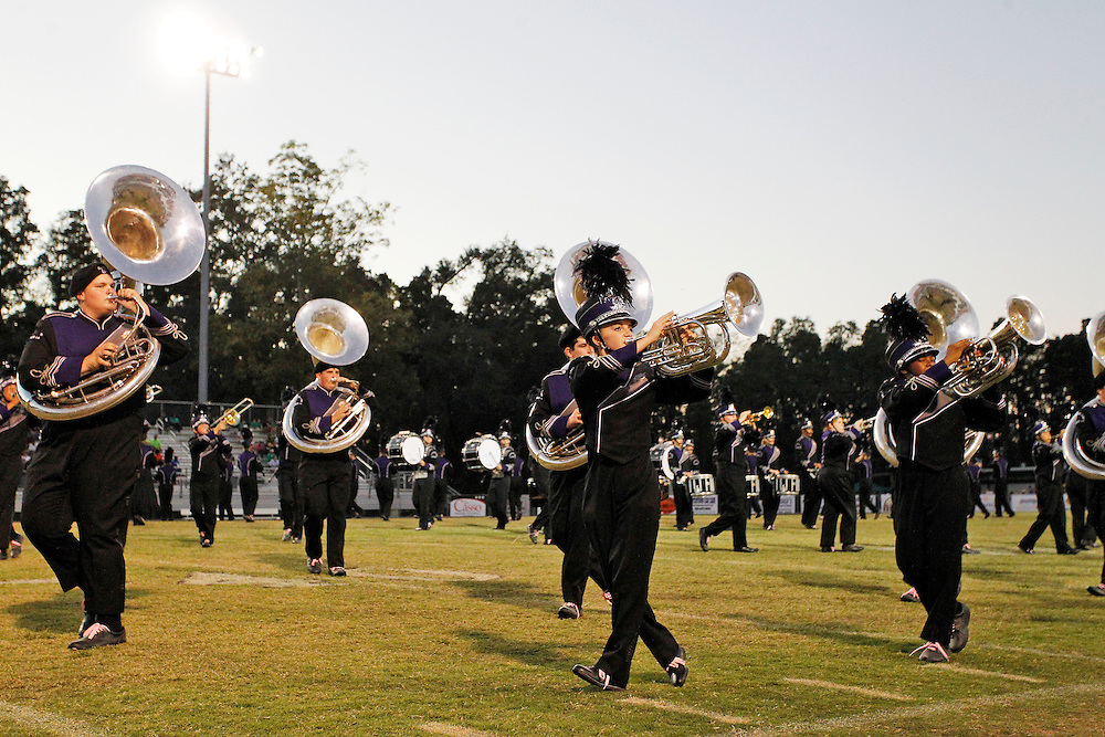 Dutchtown High School marching band at Dutchtown Marching Festival. .