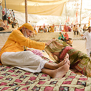 Pilgrims come to seek advices (on marriage or pregnancy etc) to the Guru in charge of the cave shrine.