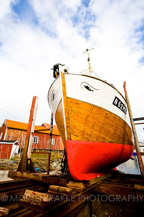 Norway, ship anchored at harbor