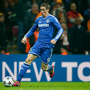 Chelsea's Fernando Torres during their UEFA Champions League Round of 16 First leg soccer match Galatasaray between Chelsea at the AliSamiYen Spor Kompleksi in Istanbul, Turkey on Wednesday 26 February 2014. Photo by Aykut AKICI/TURKPIX
