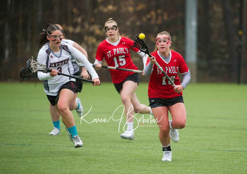 St Pauls School varsity girls lacrosse. ©2017 Karen Bobotas Photographer