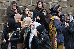 © Licensed to London News Pictures. 06/01/2017. Huddersfield, UK. The funeral of Yassar Yaqub at Jamia Bilal Mosque in Huddersfield, West Yorkshire. Yaqub, 28, from Huddersfield, was shot dead in a car stopped near junction 24 of the M62 as part of a planned police operation. Photo credit: Joel Goodman/LNP