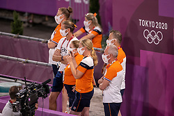 Gal Edward, NED, Werner Nicole, NED, Van Silfhout Alex, NED, Team Netherlands<br /> Olympic Games Tokyo 2021<br /> © Hippo Foto - Dirk Caremans<br /> 27/07/2021