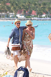 Ellen DeGeneres and Portia De Rossi take a stroll on Saint Jean beach after lunch at the Eden Rock restaurant in Saint Barthelemy island on December 25, 2015. Photo by ABACAPRESS.COM  | 528444_011 St Barthelemy France