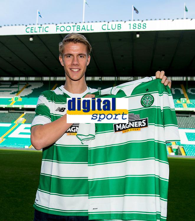 17/02/16     <br /> CELTIC PARK - GLASGOW<br /> Celtic unveil new signing Kristoffer Ajer