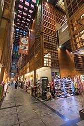 Interior of World Trade Center Souk in Abu Dhabi United Arab Emirates