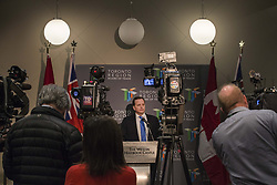 May 1, 2019 - Toronto, ON, Canada - TORONTO, ON - MAY 1  -  Jeff Yurek, Minister of Transportation, during a press conference at the Westin Harbour Castle in Toronto, May 1, 2019. The Ontario PC government will introduce legislation Thursday to upload responsibility for future Toronto transit projects to the province, despite having reached no agreement with the city in ongoing talks about sharing responsibility for new lines. Andrew Francis Wallace/Toronto Star (Credit Image: © Andrew Francis Wallace/The Toronto Star via ZUMA Wire)
