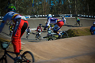 B practice riders get on the track at the UCI BMX Supercross World Cup in Santiago del Estero, Argintina.