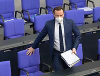 DEU, Deutschland, Germany, Berlin, 24.02.2021: Bundesgesundheitsminister Jens Spahn (CDU) stellt sich den Fragen der Abgeordneten bei der Regierungsbefragung in der Plenarsitzung im Deutschen Bundestag.
