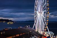 Seattle Great Wheel & Elliott Bay