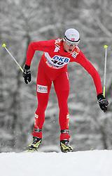 Mikko Kokslien of Norway at Nordic Combined Individual Gundersen NH, 10 km, at FIS Nordic World Ski Championships Liberec 2008, on February 22, 2009, in Vestec, Liberec, Czech Republic. (Photo by Vid Ponikvar / Sportida)