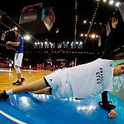 Anadolu Efes's Emircan Kosut during their Turkish Basketball Spor Toto Super League match Anadolu Efes between Galatasaray at the Abdi ipekci arena in Istanbul, Turkey, Sunday 07, February 2016. Photo by Aykut AKICI/TURKPIX
