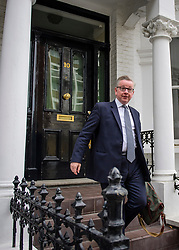 © Licensed to London News Pictures. 12/06/2017. London, UK. Newly appointed Environment Secretary MICHAEL GOVE seen at his London home. Former Justice and  education secretary, Michael Gove was reappointed to government in a cabinet reshuffle over the weekend. Photo credit: Ben Cawthra/LNP
