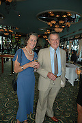 Mr. and Mrs. Michael Lavery, Telegraph magazine 40th anniversary, Windows, London Hilton. 6 September 2004. SUPPLIED FOR ONE-TIME USE ONLY-DO NOT ARCHIVE. © Copyright Photograph by Dafydd Jones 66 Stockwell Park Rd. London SW9 0DA Tel 020 7733 0108 www.dafjones.com