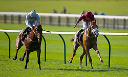 Mildenberger ridden by jockey James Doyle (left) beats Fortunes Pearl ridden by jockey Oisin Murphy to win the bet365 Feilden Stakes during day one of The Bet365 Craven Meeting at Newmarket Racecourse, Newmarket.