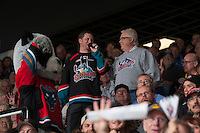 KELOWNA, CANADA - MAY 13: POP on May 13, 2015 during game 4 of the WHL final series at Prospera Place in Kelowna, British Columbia, Canada.  (Photo by Marissa Baecker/Shoot the Breeze)  *** Local Caption *** POP